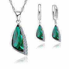 Verižica in uhani z turkiznim dijamantom