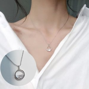 Verižica z simbolom kroga z dijamantom