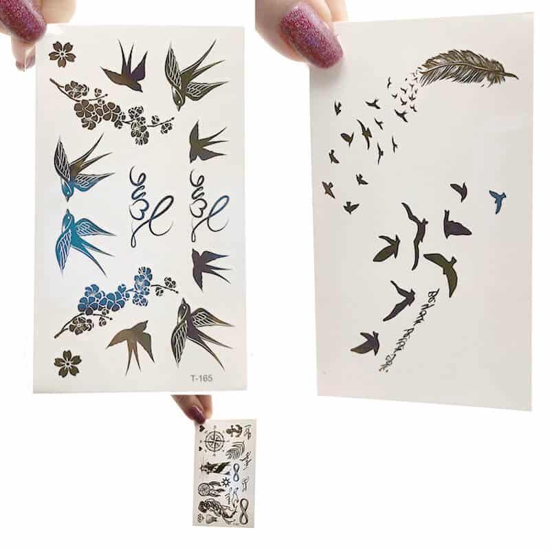 različni začasni tattooji