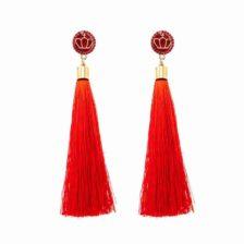 uhani kardinal rdeči viseči