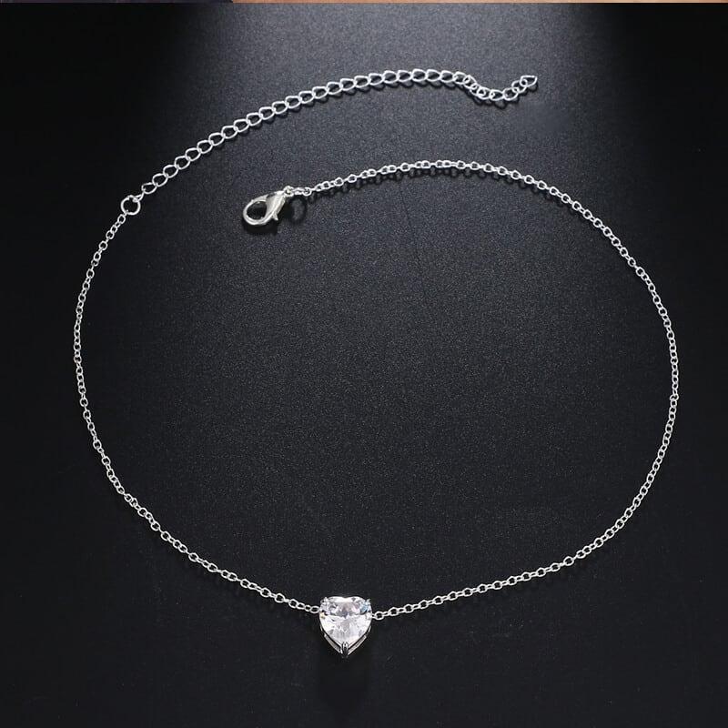 verižica obesek dijamantno srce