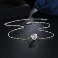 verižica z obeskom dijamantno srce