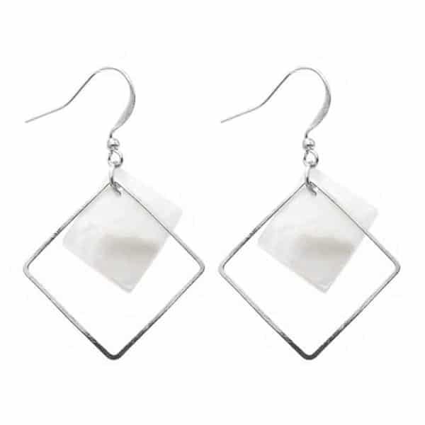 viseči srebrni uhani za ženske modni trendni