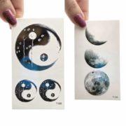 začasni tattooji luna in kitajski krog