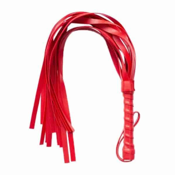 Bič rdeče barve iz usnja