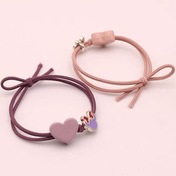 Elastika za lase z srčkom