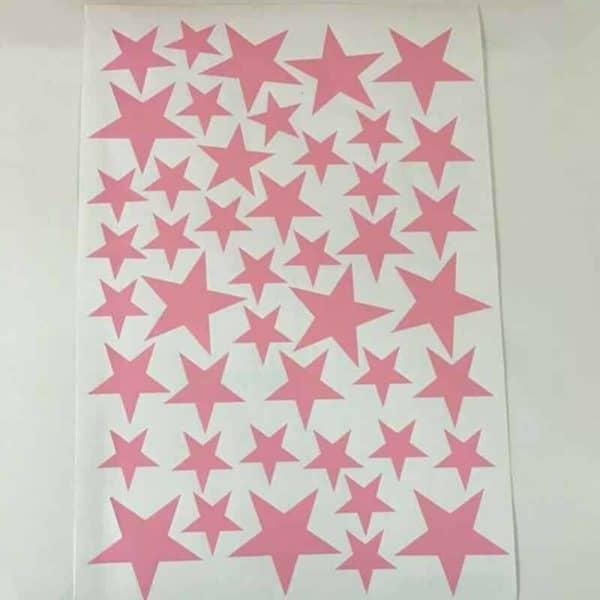 Stenske nalepka zvezdice roza barva