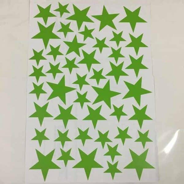 Stenske nalepka zvezdice zelena barva