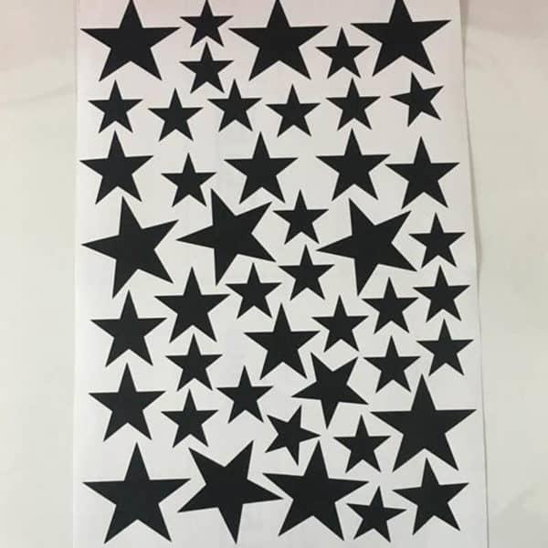 Stenske nalepke zvezdice črna