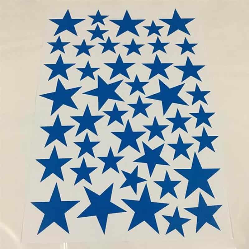 Stenske nalepke zvezdice modra barva