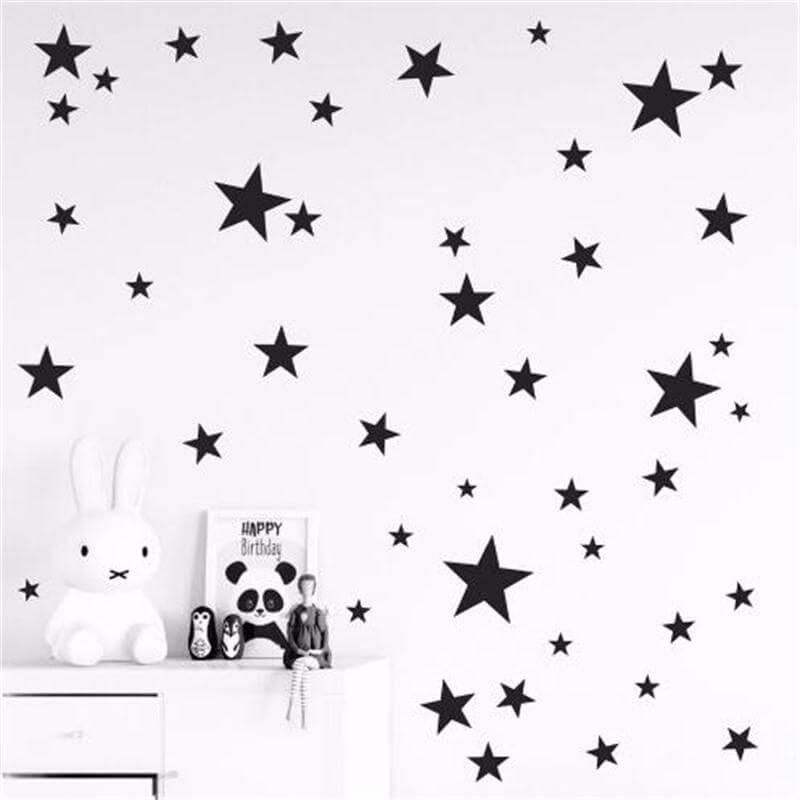 Stenske nalepke zvezdice otroška soba