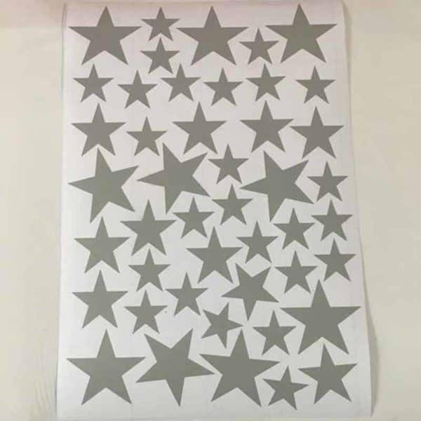 Stenske nalepke zvezdice srebrne narve