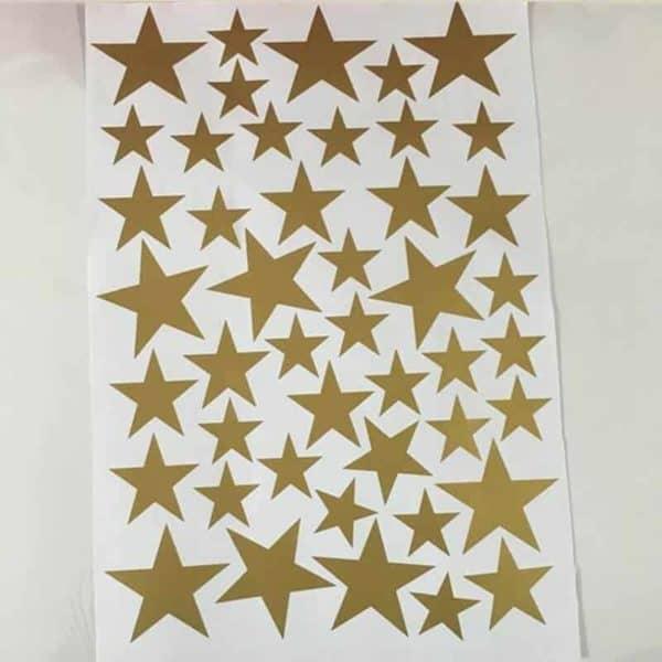 Stenske nalepke zvezdice zlate barve