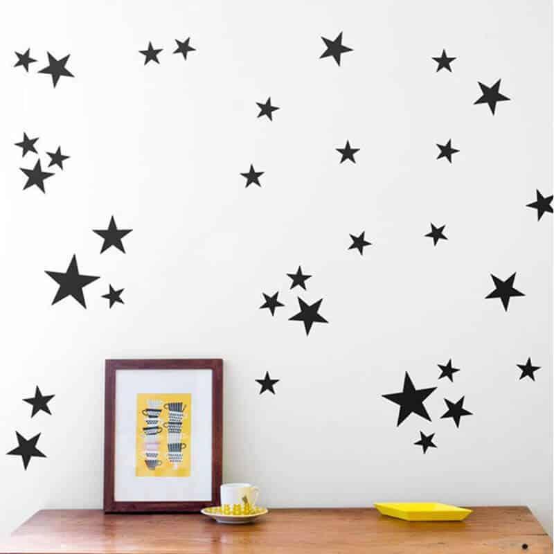 Stenske nalepke zvezdice