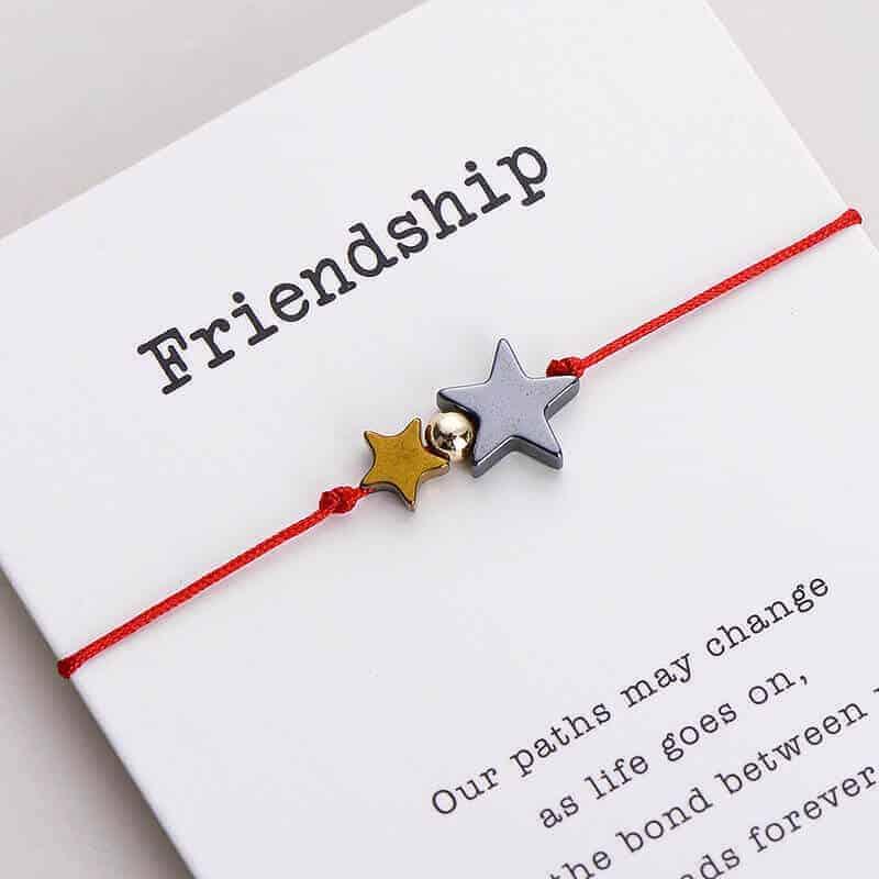 Zapestnica prijateljstva s simbolom zvezdic