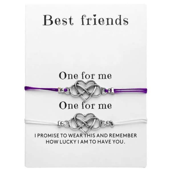 Zapestnica prijateljstva belo vijolična barva