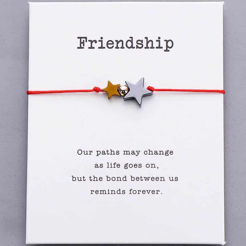 Zapestnica prijateljstva rdeča barva