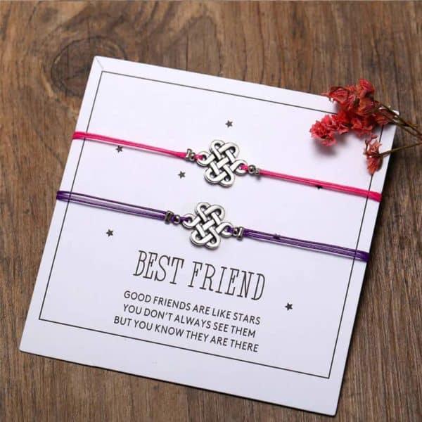 Zapestnica prijateljstva s simbolom prepletenih življenskih trenutkov komplet