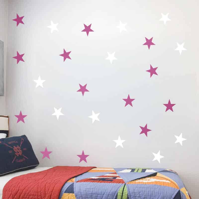 stenske nalepke pinki zvezdice