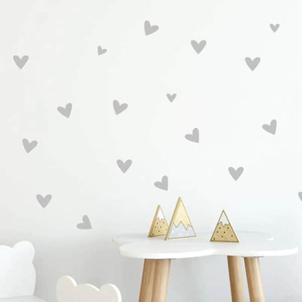 stenske nalepke srebrni srčki