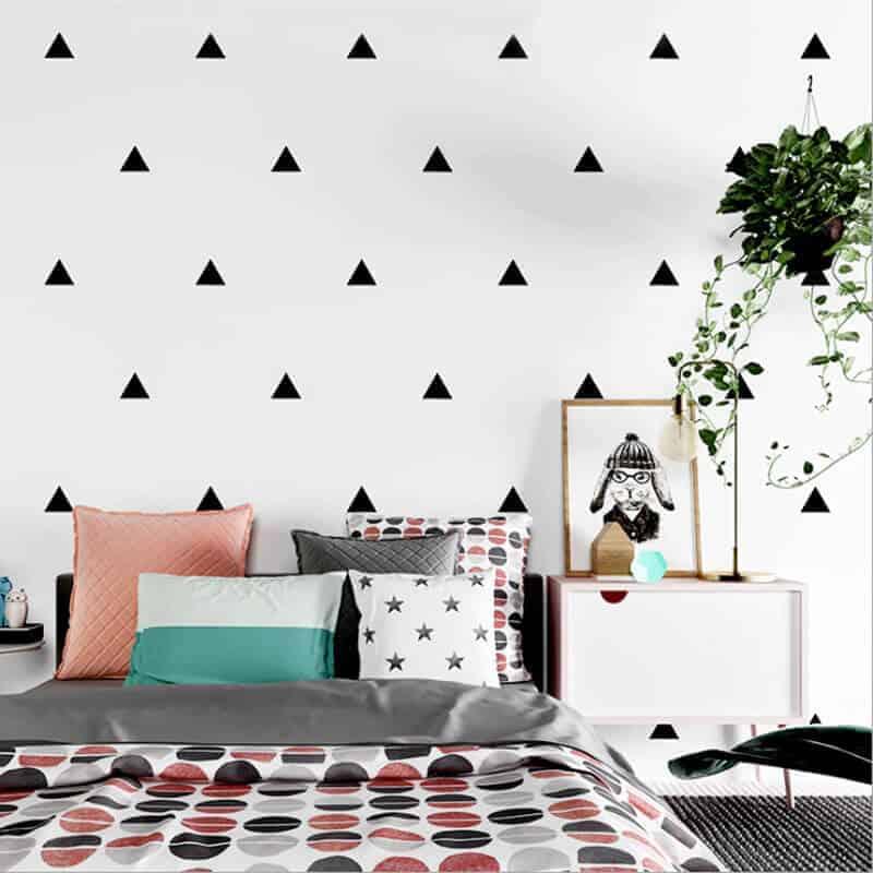 stenske nalepke trikotnik oblik