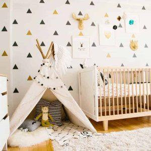 stenske nalepke trikotnik oblika siva barva