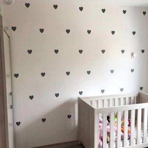 stenske nalepke v obliki srčka
