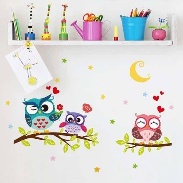 stenske nalepke za otroško sobo sove
