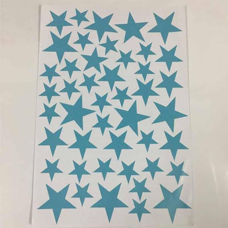stenske nalepke zvezdice svetlo modra barva