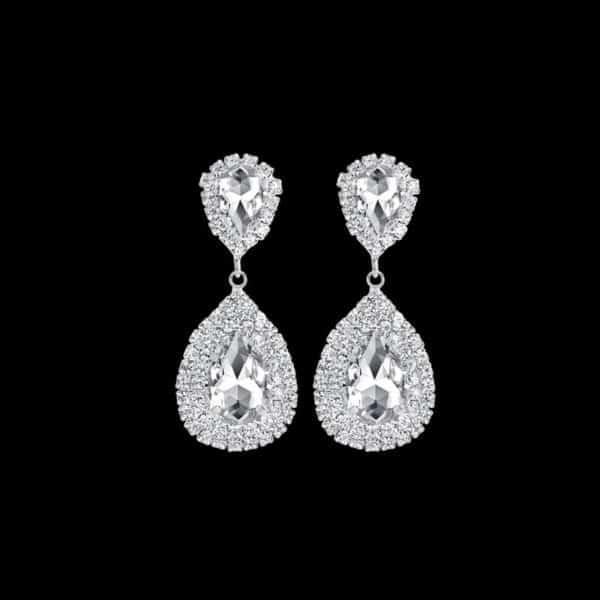 viseči kristalni uhani z diamanti modni in prestižni