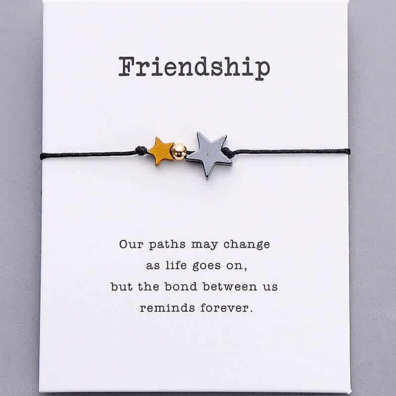 zapestnica prijateljstva črna barva