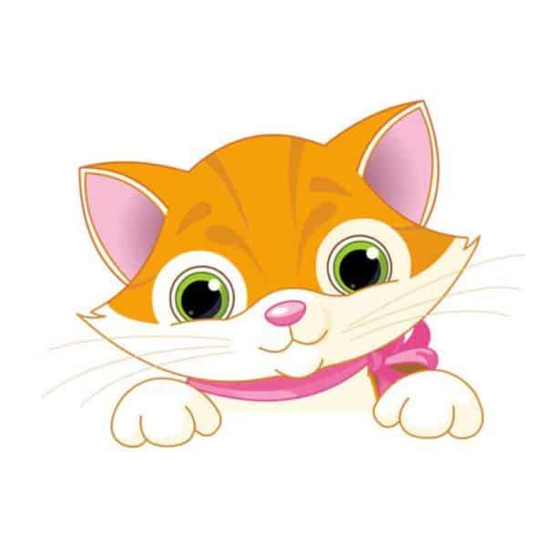Stenska nalepka za stikalo Mačka