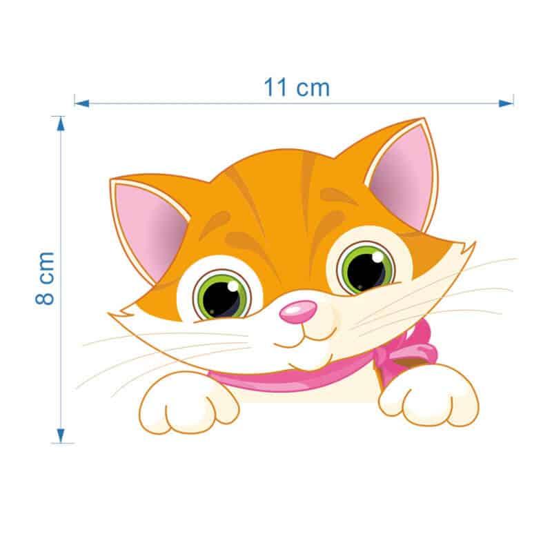 Stenska nalepka za stikalo Mačka velikost