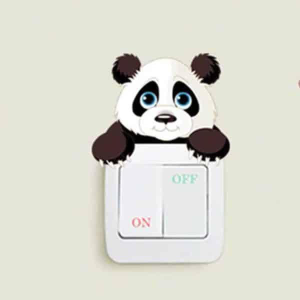 Stenska nalepka za stikalo Motiv pande igriva panda