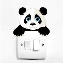 Stenska nalepka za stikalo Panda