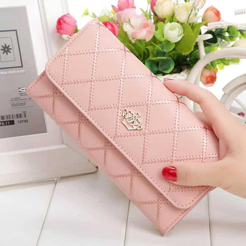 Usnjena pretižna denarnica za ženske