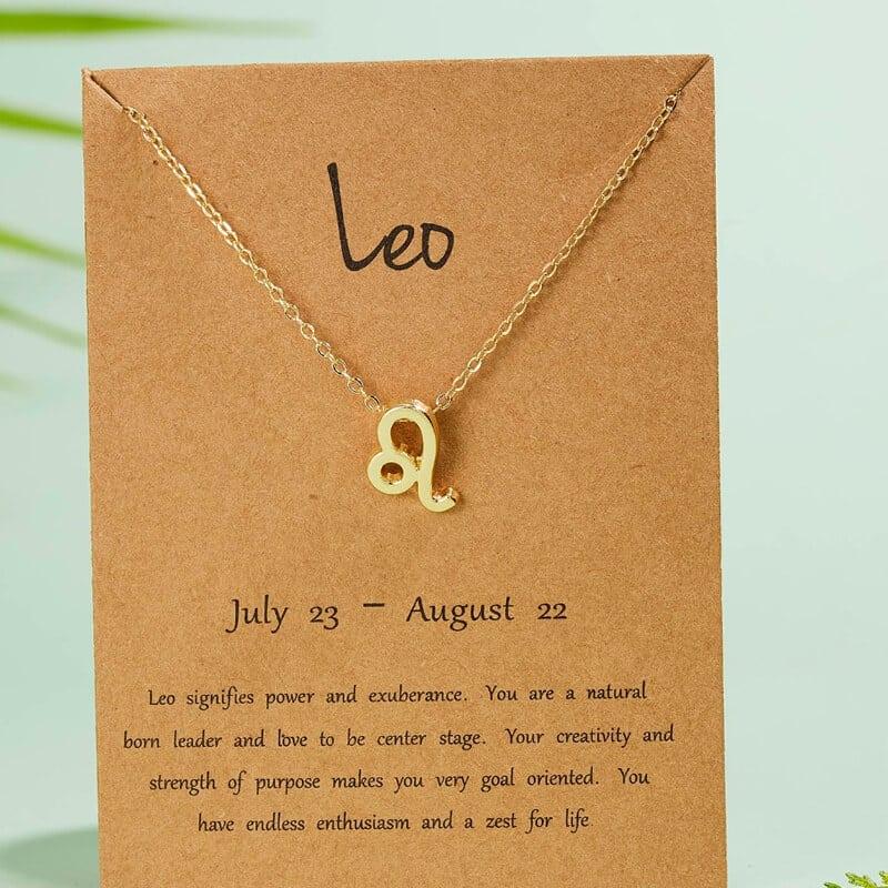 Verižica horoskop z obeskom leva