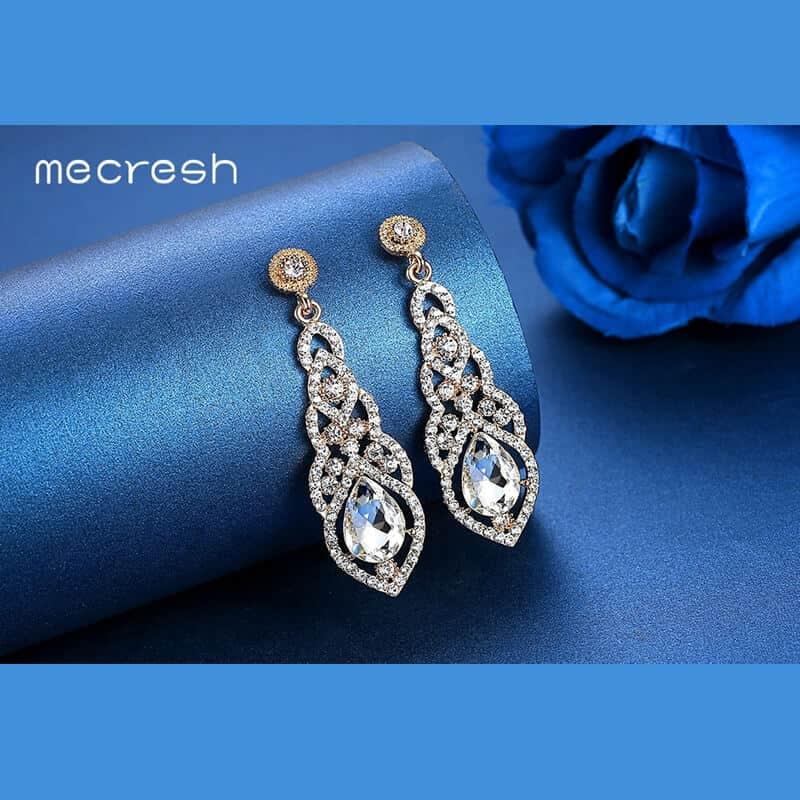 uhani nakitko dolgi srebrni modni