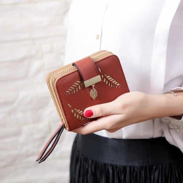 unikatna ženska denarnica rdeče barve