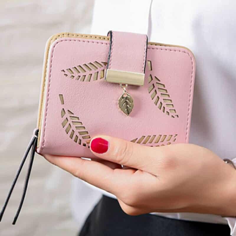 unikatna ženska denarnica roza barve