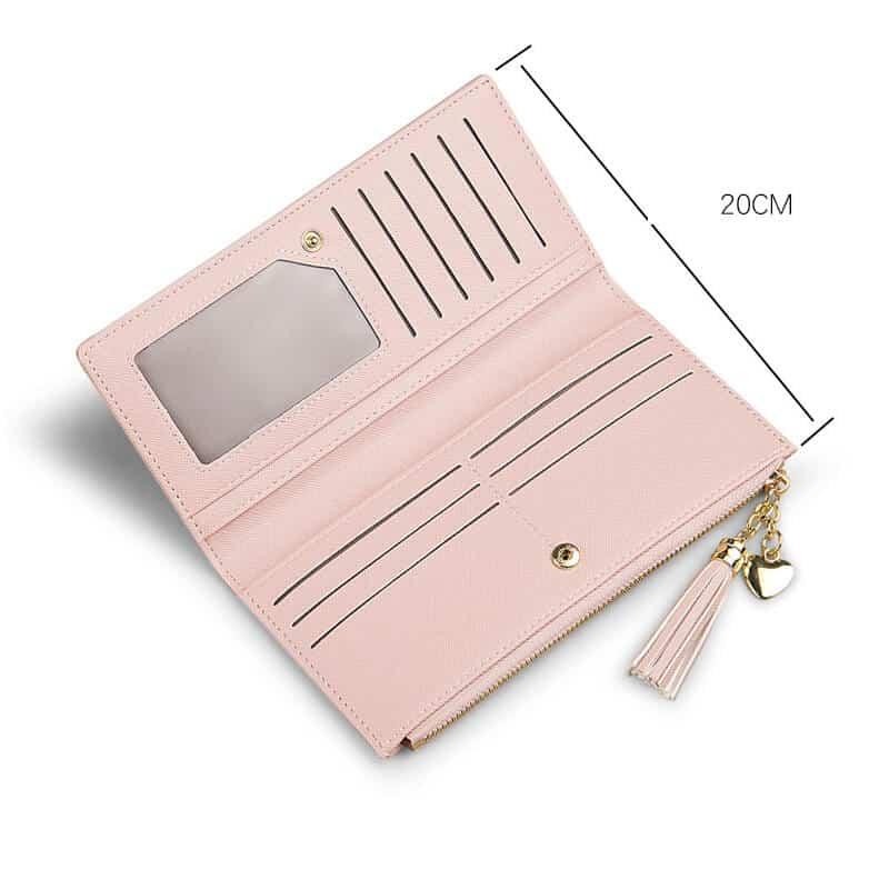 usnjena denarnica za ženske velikost dolge denarnice