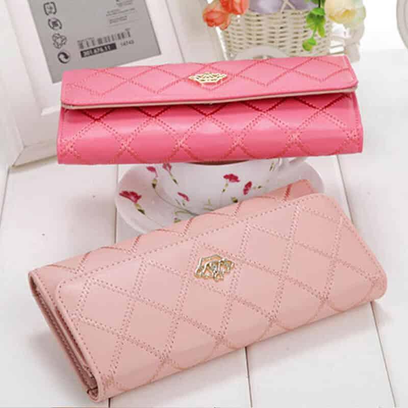 usnjene denarnice roza barve unikatne