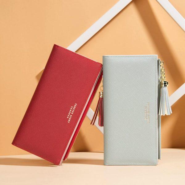 usnjene denarnice za ženske dolge moderne
