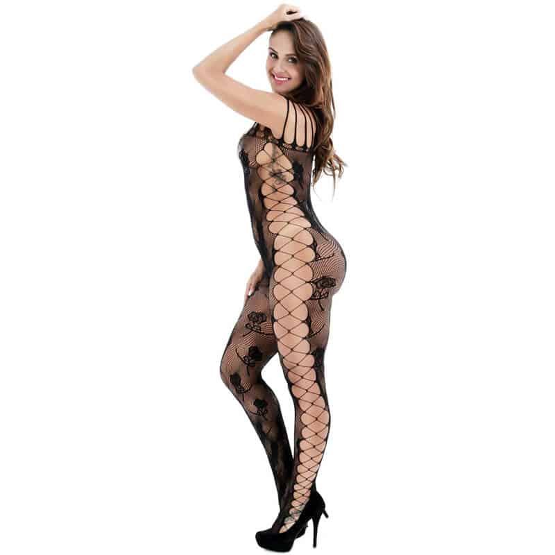 zapeljivo erotično perilo za ženske črna barva