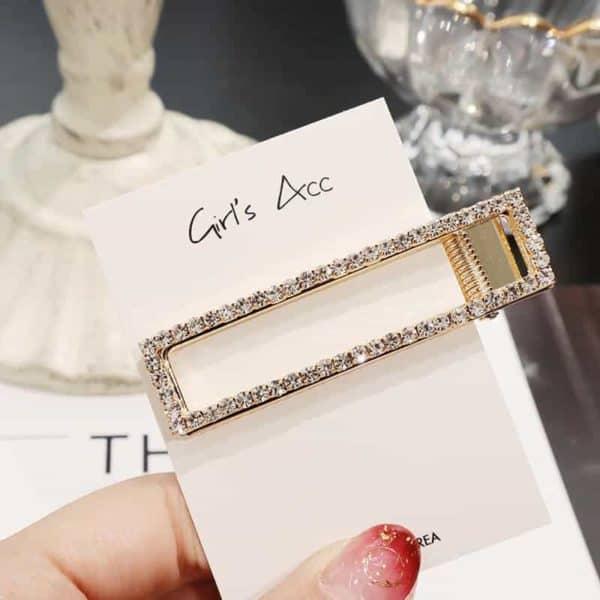 Bleščeče sponke za lase pravokotna oblika zlata