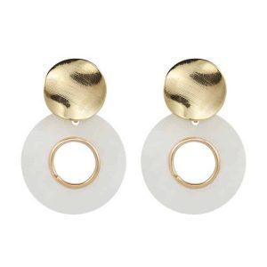 Viseči uhani z bisernim krogom zlata barva