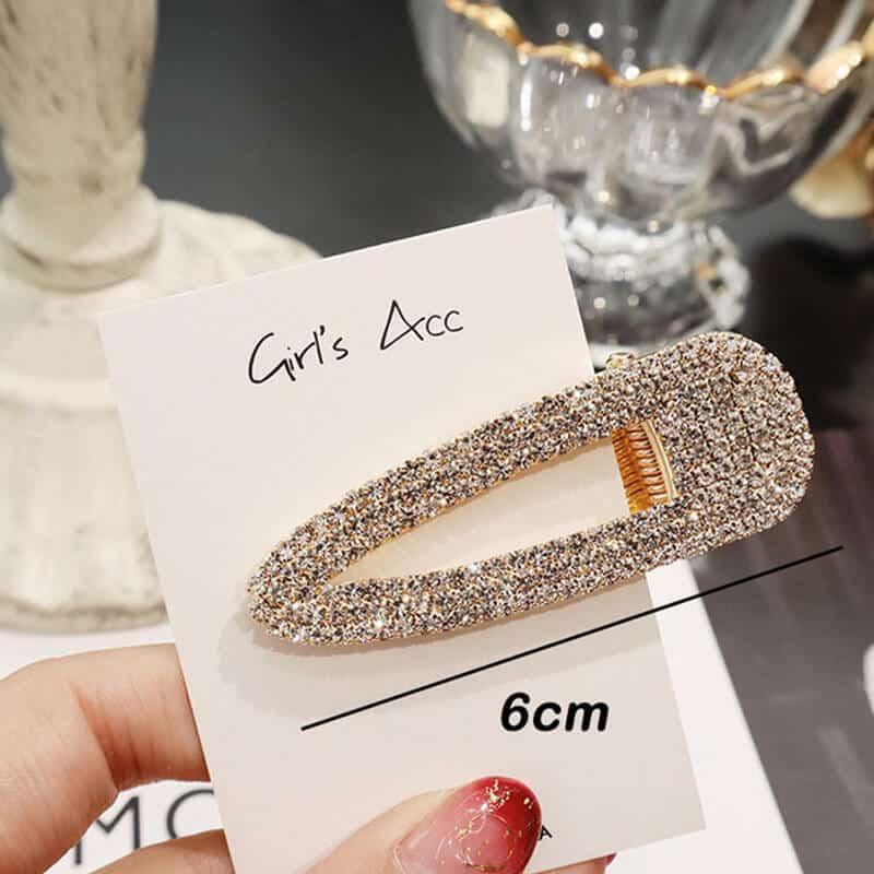 Sponke za lase z dijamantki zlata barva