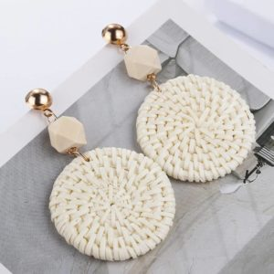 Unikatni viseči uhani iz bambusa