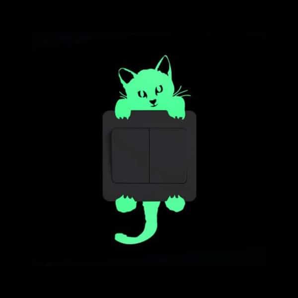 svetleča nalepka mačka
