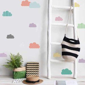 Nalepke za otroško sobo oblaki
